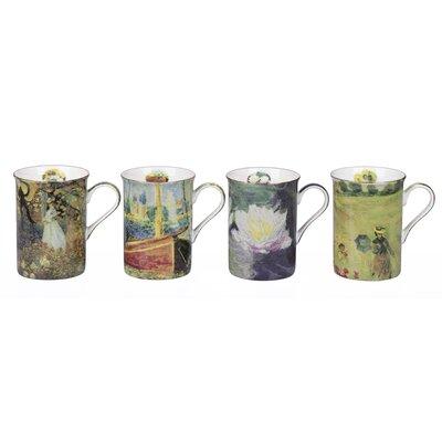 House Additions Monet 4 Piece 0.29L Fine China Mug Set