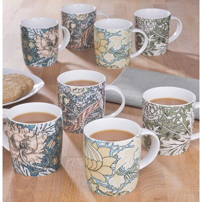 House Additions 8 Piece 0.35L Porcelain Mug Set
