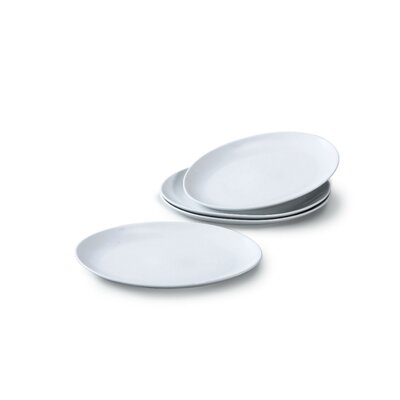 House Additions 30cm Porcelain Steak Plate in White