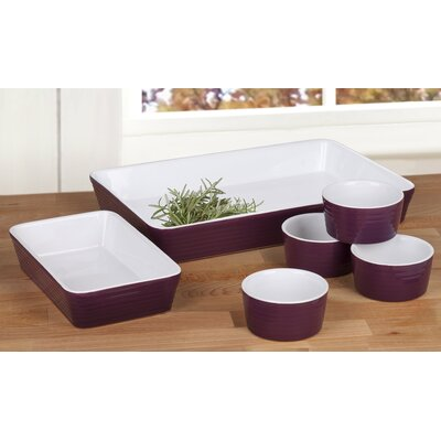 House Additions 6 Piece Stoneware Oven to Table Serving Set