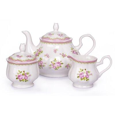 House Additions 3 Piece Bone China Tea Set