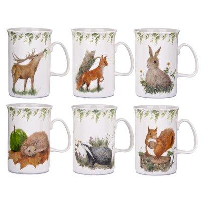 House Additions 6 Piece Fine China Mug Set