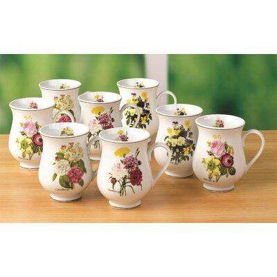 House Additions 8 Piece 0.33L Porcelain Mug Set in Spring Posy