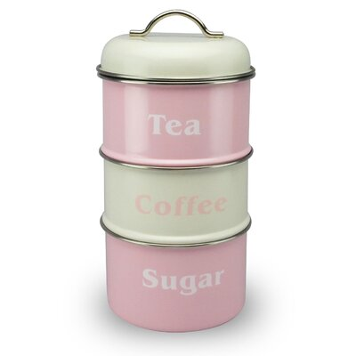 House Additions Vintage 3-Tier Storage Canister