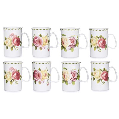 House Additions 10.5cm Fine China Mug in Rose