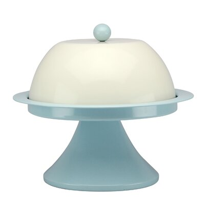 House Additions Vintage 30.5cm Cake Stand in Blue and Cream