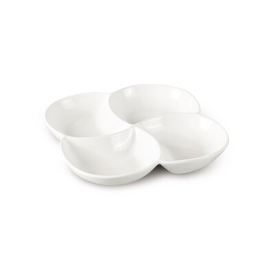 House Additions 33cm Porcelain Swirl Dish in White