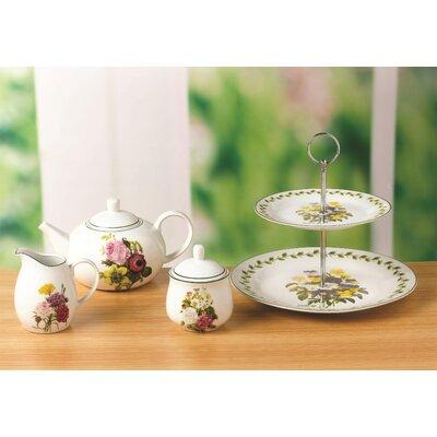 House Additions Spring Posy 4 Piece Porcelain Tea Set