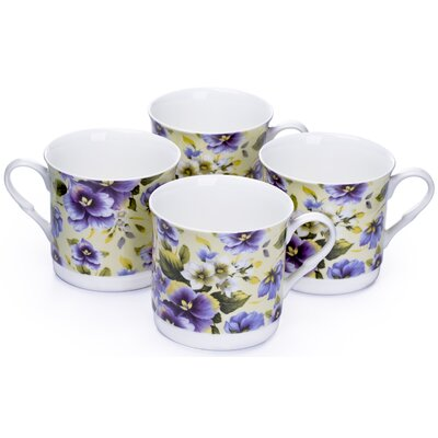 House Additions 0.3L Fine China Tea Cup in Violet Floral
