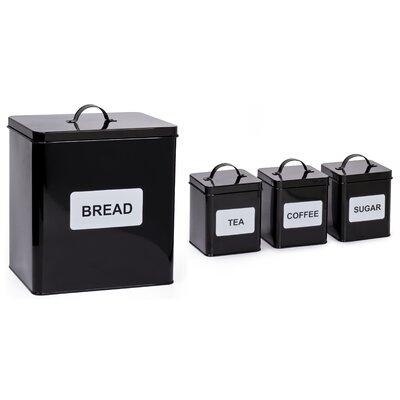 House Additions 4-Piece Storage Tin Set