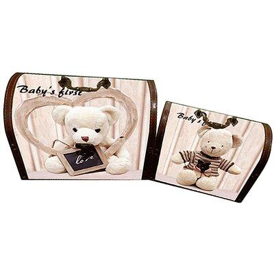 House Additions Teddy 2 Piece Treasure Chest Box Set