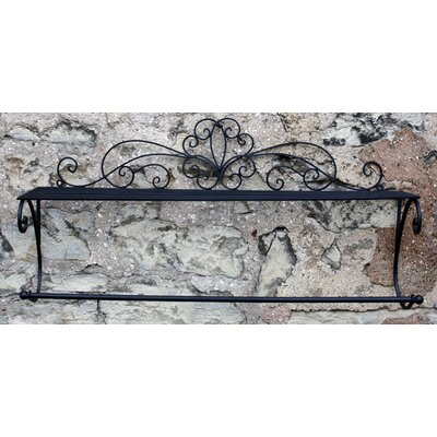 House Additions Scroll 68.58cm Wall Mounted Towel Rail and Shelf