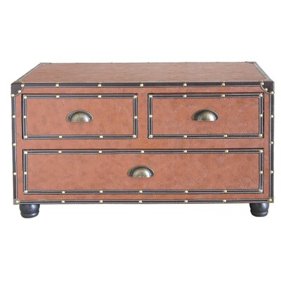 House Additions 3 Drawer Wooden Trunk