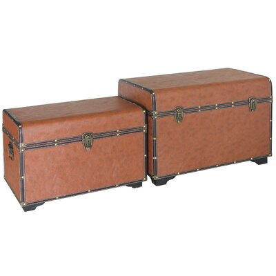 House Additions 2 Piece Wooden Trunk Set