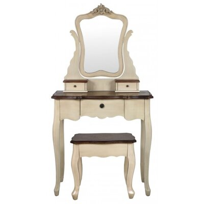 House Additions Country Cottage Dressing Table Set with Mirror