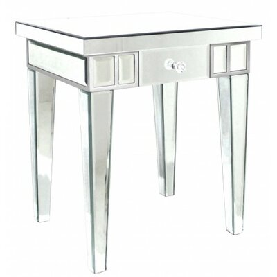 House Additions Bevelled Mirror Side Table