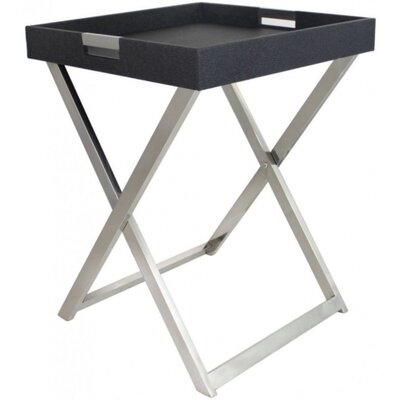 House Additions Faux Stringray Leather Side Table