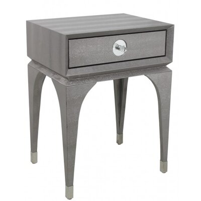 House Additions Faux Snakeskin Side Table