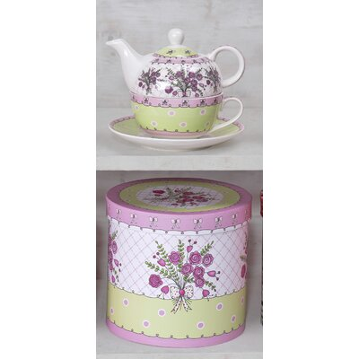 House Additions Tea For One 3 Piece Posy Tea Set
