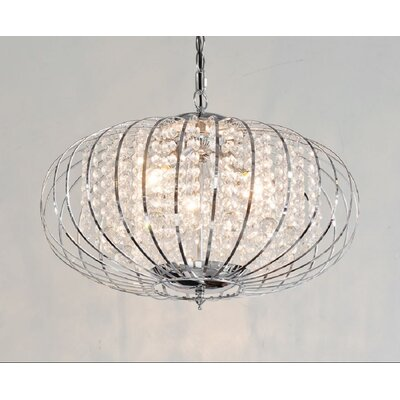 House Additions 3 Light Curved Chandelier