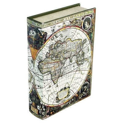 House Additions Atlas Storage Book Box in Black & White