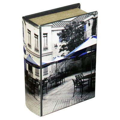 House Additions Cafe Storage Book Box in Black & White