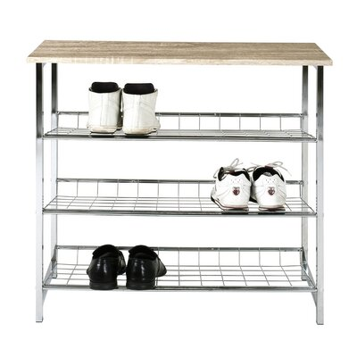 House Additions Shoe Rack with 3 Storage Spaces