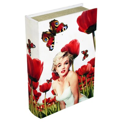 House Additions Marilyn Storage Book Box in White