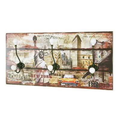 House Additions Wall Mounted Coat Rack with 3 Hook
