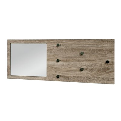 House Additions Wall Mounted Coat Rack Mirror