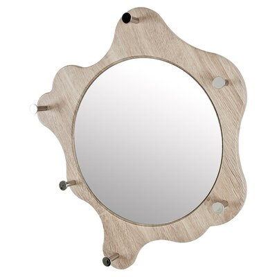 House Additions Wall Mounted Coat Rack with Integrated Mirror