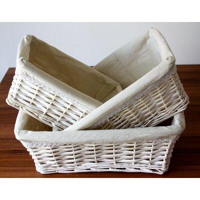House Additions 3 Piece Hamper Basket Set