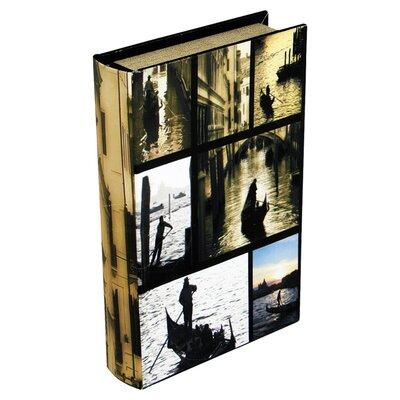House Additions Venice Scene Storage Book Box in Black