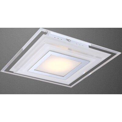 House Additions Amos 1 Light Flush Light