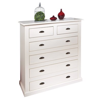 House Additions 6 Drawer Chest of Drawers