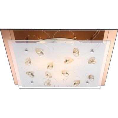 House Additions Ayana 3 Light Flush Ceiling Light