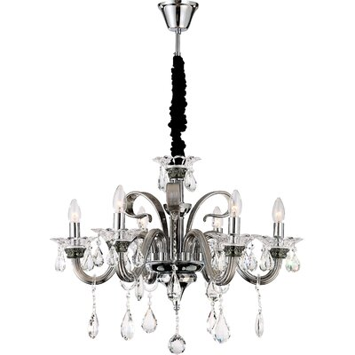 House Additions Dunja 6 Light Crystal Chandelier