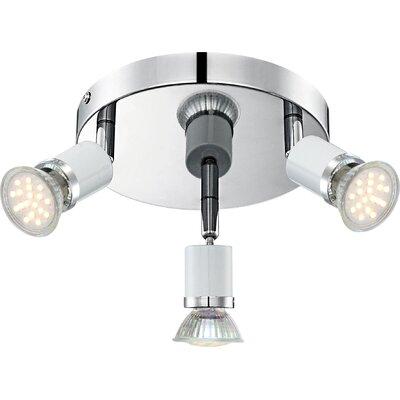 House Additions Fina 3 Light Semi-Flush Ceiling Light