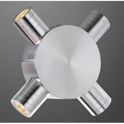 House Additions Gordon 4 Light Semi-Flush Wall Light