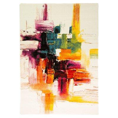 House Additions Impressionist Multi-Coloured Area Rug