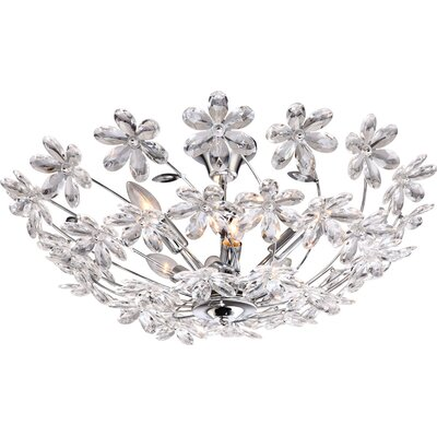House Additions Juliana 6 Light Semi-Flush Ceiling Light