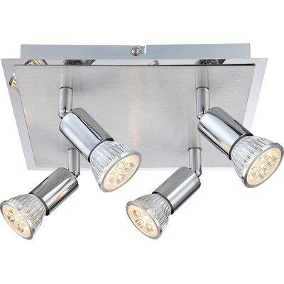 House Additions Levon 4 Light Semi-Flush Ceiling Light