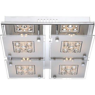 House Additions Louise 4 Light Flush Ceiling Light