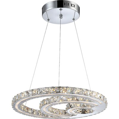 House Additions Miley 1 Light Crystal Pendant
