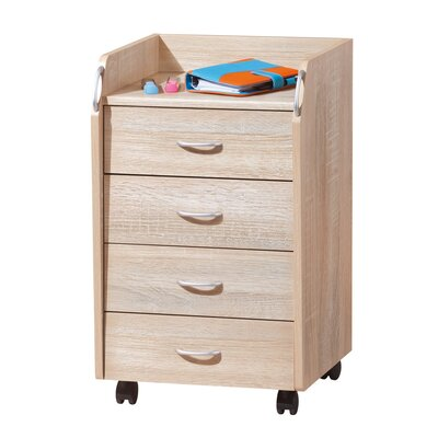 House Additions 4 Drawer Bedside Table