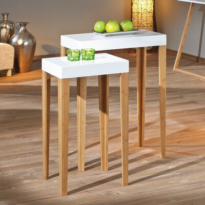House Additions Hank 2 Piece Side Table Set
