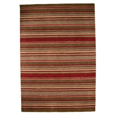 House Additions Rustic Hand-Knotted Brown Area Rug