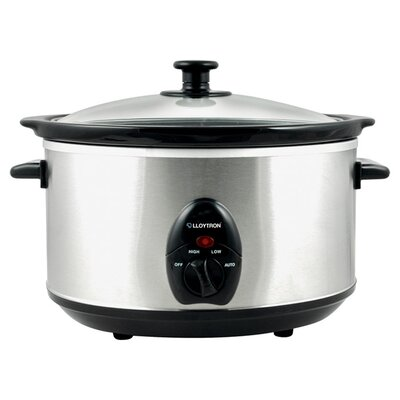 House Additions 3.5L Stainless Steel Oval Slow Cooker