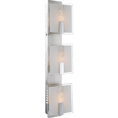House Additions 3 Light Semi-Flush Wall Light