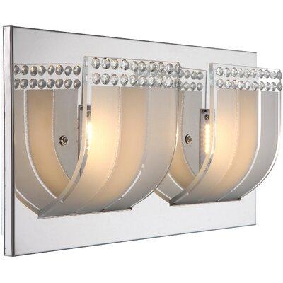 House Additions 2 Light Semi-Flush Wall Light
